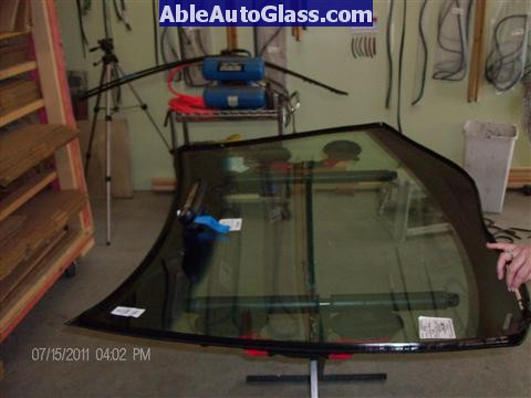 Acura RL 2005-2008 Windshield Replaced- V-notch Dow BetaSeal 1 on Windshield