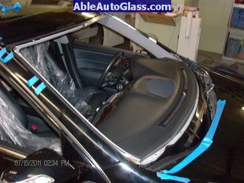 Acura RL 2005-2008 Windshield Replaced - all primed
