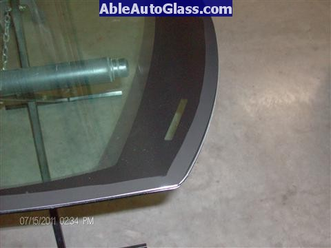 Acura RL 2005-2008 Windshield Replaced - close up of frit primer