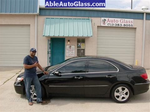 Acura RL 2005-2008 Windshield Replaced - Complete - Successful Job