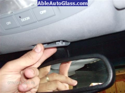 Acura RL 2005-2008 Windshield Replaced - removing cover