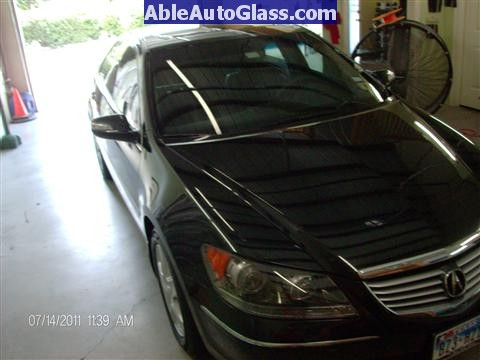 Acura RL 2005-2008 Windshield Replaced - Side View