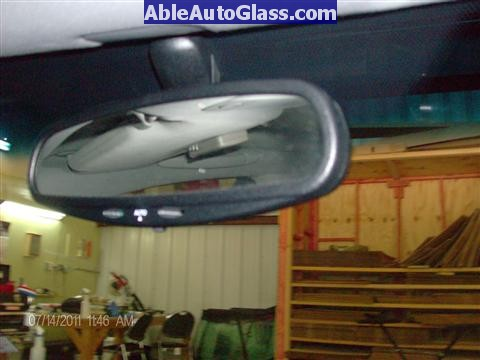 Acura RL 2005-2008 Windshield Replaced - View of Mirror