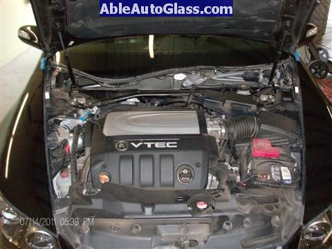 Acura RL 2005-2008 Windshield Replaced - view under under hood