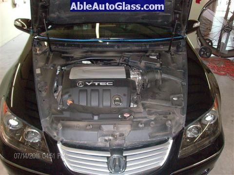 Acura RL 2005-2008 Windshield Replaced - view underhood