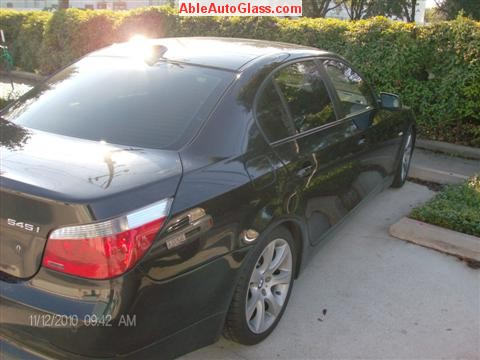 BMW 5451 2005 Windshield Replace Houston, TX-Rear View
