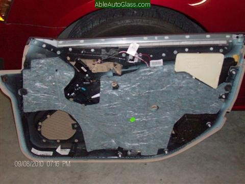 Cadillac CTS 2010 Front Door Replacement View of Door Panel Removed