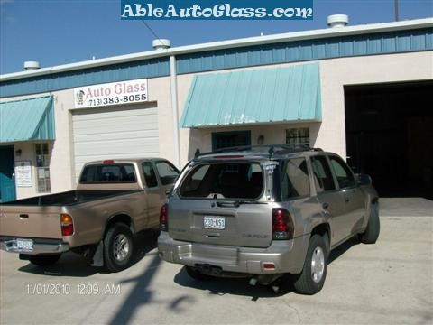 Chevy Trailblazer Back Glass Replacement - Arrived at Able Auto Glass in Houston, TX
