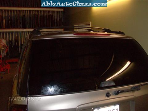 Chevy Trailblazer Back Glass Replacement - Back Glass Installed Rear View