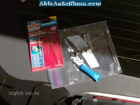 Chevy Trailblazer Back Glass Replacement - Used Permatex Thread Locker