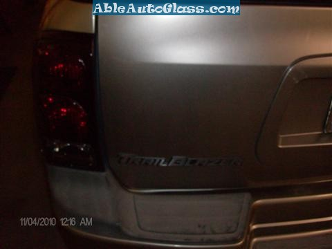 Chevy Trailblazer Back Glass Replacement - View from Rear