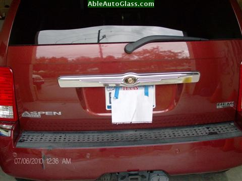 Chrysler Aspen 07-08 Windshield Replacement Rear View