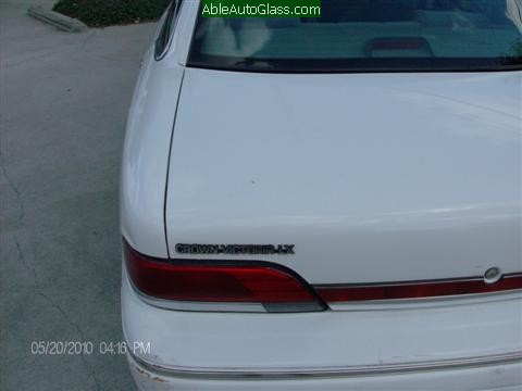 Ford Crown Victoria 1994 Windshield Replacement  - View of Rear