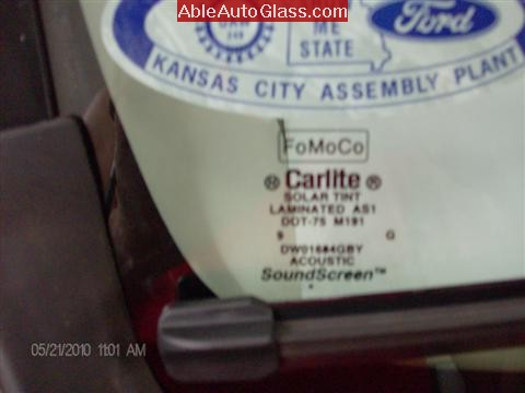 Ford Escape 2010 Fred Loya Windshield Replacement Logo FoMoCo Brand Carlite -Acoustic Interlayer-SoundScreen