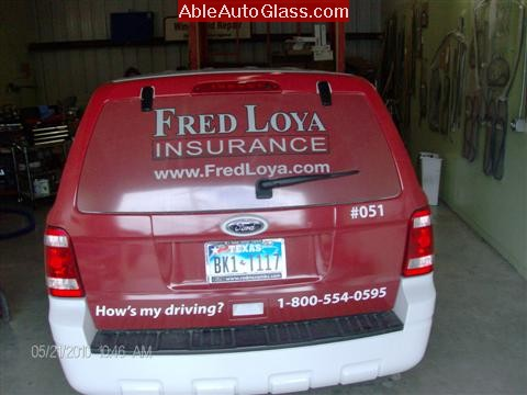 Ford Escape 2010 Fred Loya Windshield Replacement Need Insurance