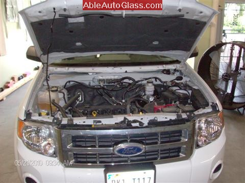 Ford Escape 2010 Fred Loya Windshield Replacement View Under Hood
