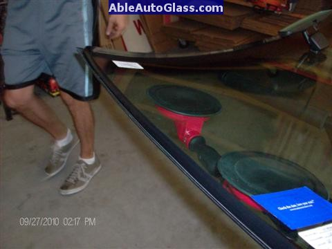 Ford F150 2005-2008 Standard Cab Windshield Repalcement -  Urethane Seal Applied to Windshield