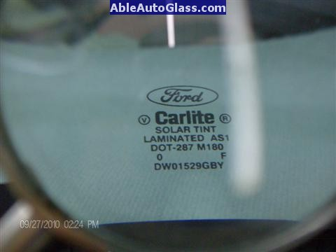Ford F150 2005-2008 Standard Cab Windshield Repalcement - Bug Ford Carlite DOT 287