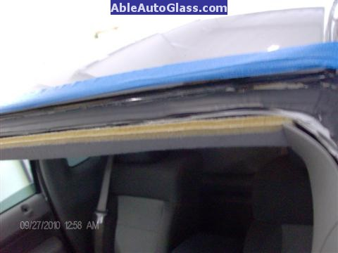 Ford F150 2005-2008 Standard Cab Windshield Repalcement - Top View of Full Cut 2-5mm Thin