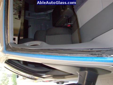Ford F150 2005-2008 Standard Cab Windshield Repalcement - View of Old Seal