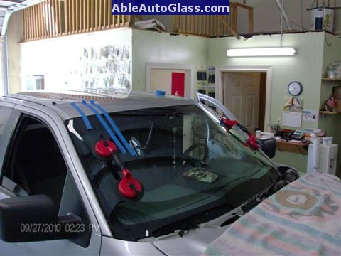Ford F150 2005-2008 Standard Cab Windshield Repalcement - We Use 2 People to Set Windshield for Better Placement