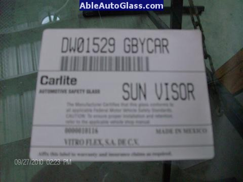 Ford F150 2005-2008 Standard Cab Windshield Repalcement DW01529GBY Carlite Made in Mexico