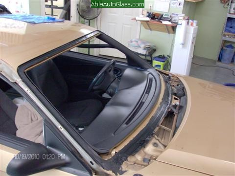 Ford Mustang 2000 Front Windshield Replacement - Primed to Prevent Future Rust