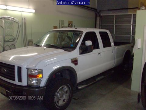 Ford Super Duty Truck 2008-2011 Front Windshield Replacement - Side View