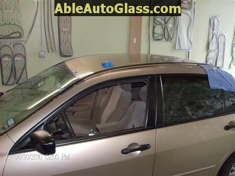 Honda Accord 2003-2007 Windshield Replace - Another View of Drip Rail Molding