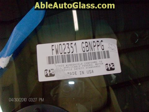 Honda Accord 2003-2007 Windshield Replace - Label FW02351GBN PPG USA