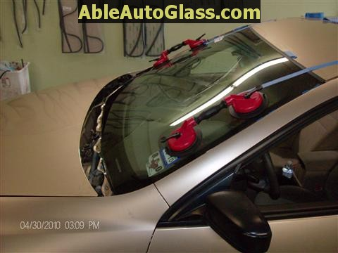 Honda Accord 2003-2007 Windshield Replace - Side View of Installation