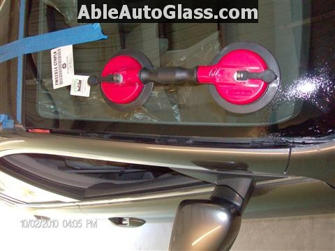 how to clean inside front windshield