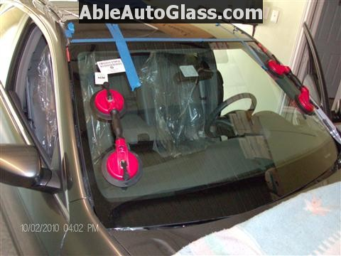 Honda Accord 2010 Front Windshield Replacement - Installed with 2 People