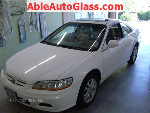 Honda Accord Coupe 2002 Windshield Replacement - All Back Together