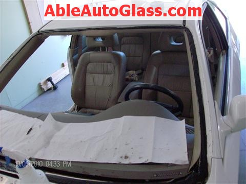 Honda Accord Coupe 2002 Windshield Replacement - All Cleaned Frontal View