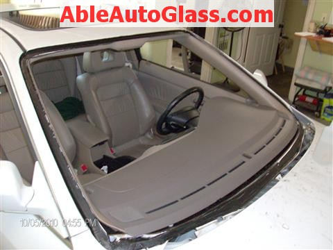Honda Accord Coupe 2002 Windshield Replacement - All Primed Frontal View