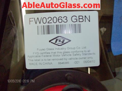Honda Accord Coupe 2002 Windshield Replacement - FW02063GBN FY Made in China
