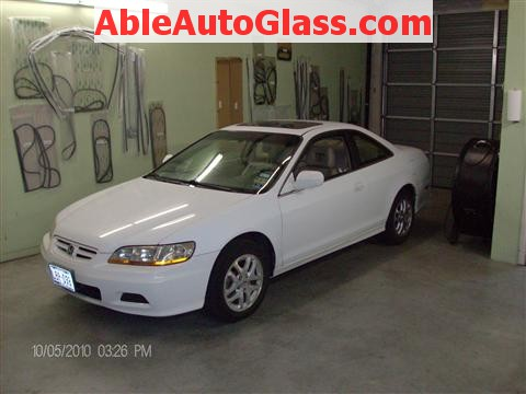 Honda Accord Coupe 2002 Windshield Replacement - Ready for Replacement