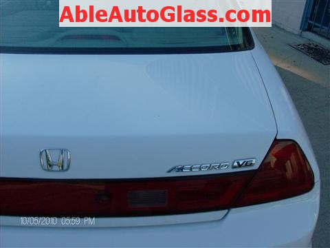 Honda Accord Coupe 2002 Windshield Replacement - Rear View