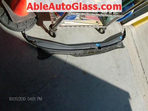 Honda Accord Coupe 2002 Windshield Replacement - View of Cowl