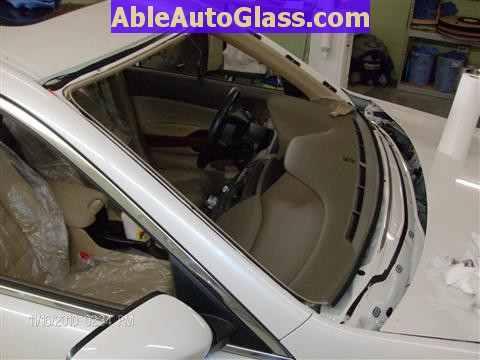 honda accord sedan   windshield replace  auto glass  houston tx
