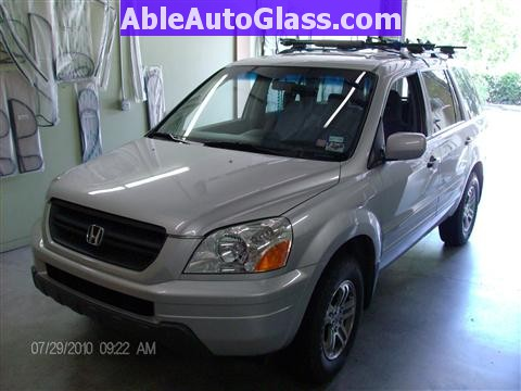 Honda Pilot 2003-2008 Windshield Replace - Arrived at Shop