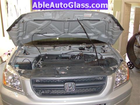 honda pilot   windshield replace  auto glass  houston tx