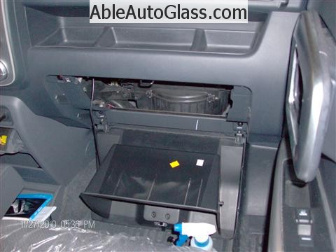 Honda Ridgeline Windshield Replace - Removed Glove Box
