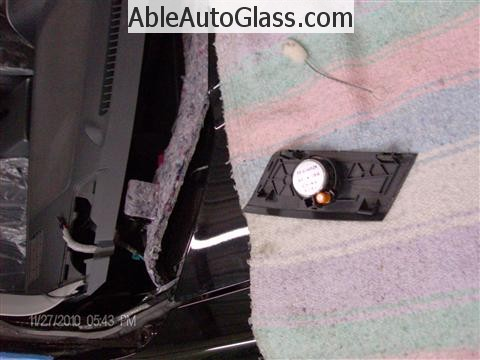 Honda Ridgeline Windshield Replace - Speaker Removed