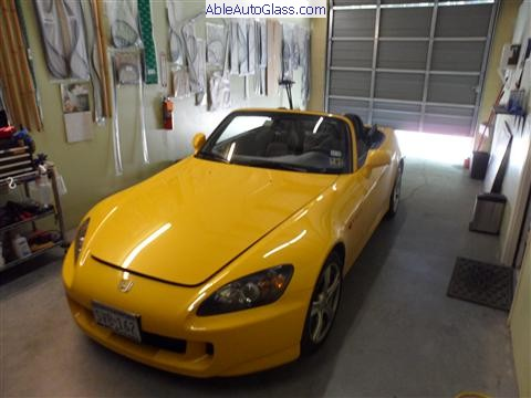 Honda S2000 2009 Windshield Replaced (1)