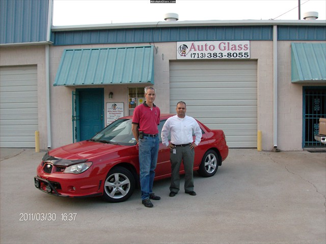Subaru Impreza 2006 Windshield Replaced and Rock Chip Repairs Chris Hernandez and Amith Reddy