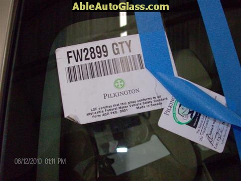 Toyota Corolla 2009-2011 Acoustic Windshield - FW02899GTY Acoustic, Third Visor Frit