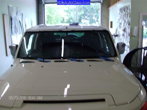 Toyota FJ Cruiser 07-10 Windshield Replacement Cowl Reinstalled
