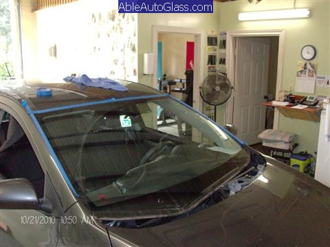 Toyota Matrix Windshield Replaced 2009-2011- view of cowl removed